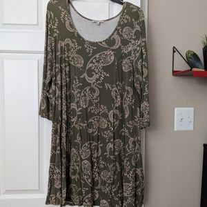 Paisley swing dress